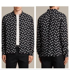 All Saints Domino long sleeve button down shirt